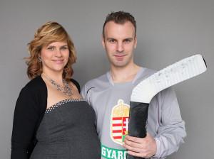 Az egyik legismertebb jégkorong játékos, Szuper Levente és felesége, Emese is a Cord Blood Centert választották